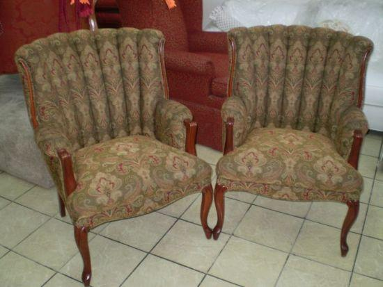 Channel Back Chairs, Antique Restoration in Pasadena, CA - Lanzetti Custom Upholstery Pasadena, CA Gallery